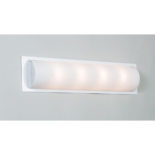 Illuminating Experiences Visual White Bathroom Light - Vertical or Horizontal Mounting Visual6WHT
