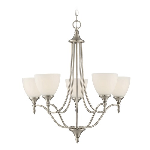 Savoy House Savoy House Lighting Herndon Satin Nickel Chandelier 1-1001-5-SN