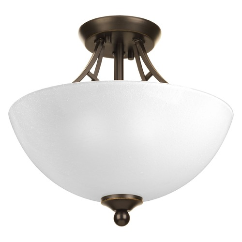 Progress Lighting Progress Lighting Prosper Antique Bronze Semi-Flushmount Light P3422-20