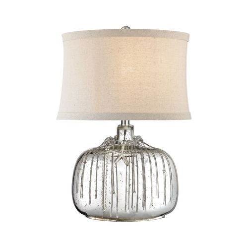 Dimond Lighting Dimond Nassau Antique Silver Mercury Table Lamp with Oval Shade D2927