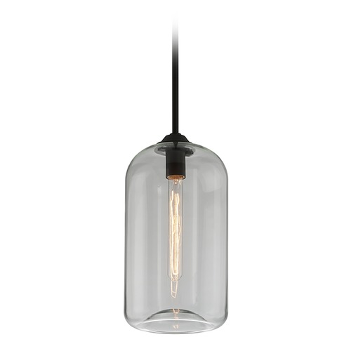 Troy Lighting Edison Bulb Mini-Pendant Light Black 8-Inch by Troy Lighting F5561