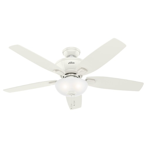 Hunter Fan Company Hunter 52-Inch Kenbridge Fresh White Ceiling Fan with Light 53375