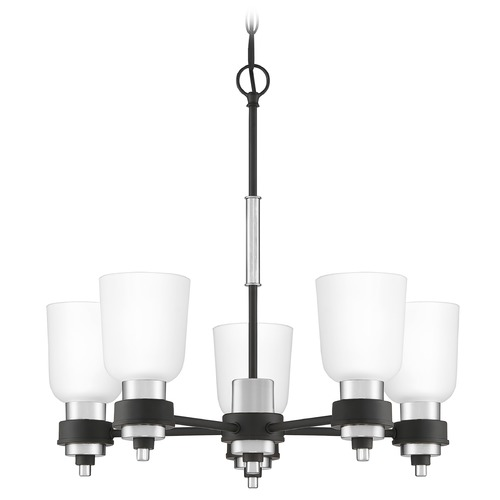 Quoizel Lighting Quoizel Lighting Conrad Matte Black with Brushed Nickel Chandelier CRD5023BN