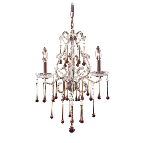 Elk Lighting Mini-Chandelier in Rust Finish 4011/3AMB