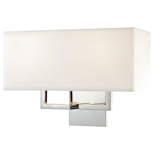 George Kovacs Lighting Two-Light Sconce with Linen Shade P472-077