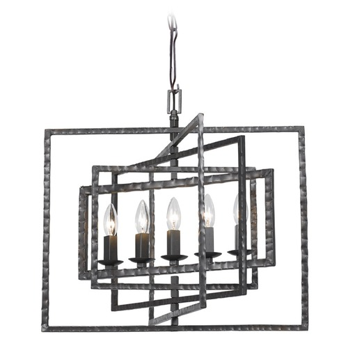 Crystorama Lighting Crystorama Capri Raw Steel Pendant Light 336-RS