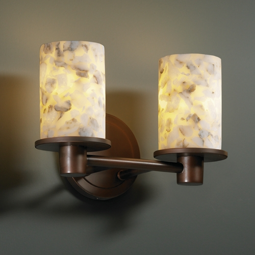 Justice Design Group Justice Design Group Alabaster Rocks! Collection Bathroom Light ALR-8512-10-DBRZ