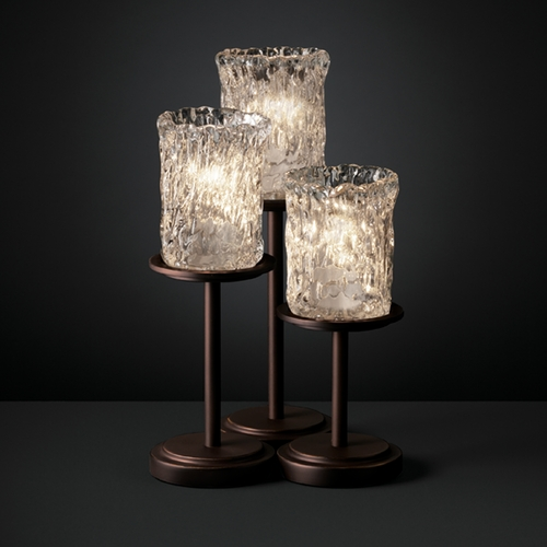 Justice Design Group Justice Design Group Veneto Luce Collection Table Lamp GLA-8797-16-CLRT-DBRZ