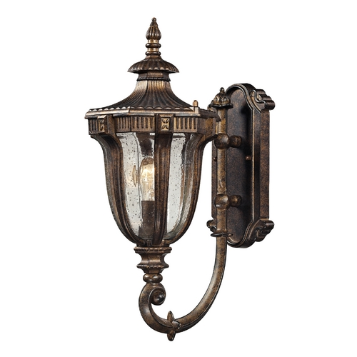 Elk Lighting Outdoor Wall Light with Clear Glass in Regal Bronze Finish 45060/1