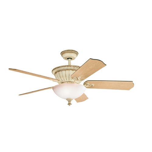 Kichler Lighting Kichler Lighting Larissa Aged White Ceiling Fan with Light 300012AW