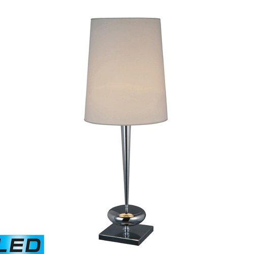 Dimond Lighting Dimond Lighting Chrome LED Table Lamp with Empire Shade D1516-LED