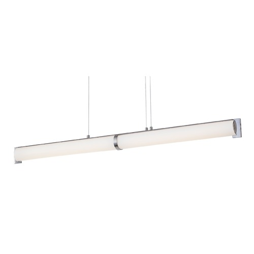 George Kovacs Lighting George Kovacs Tube Brushed Nickel LED Island Light P1152-084-L
