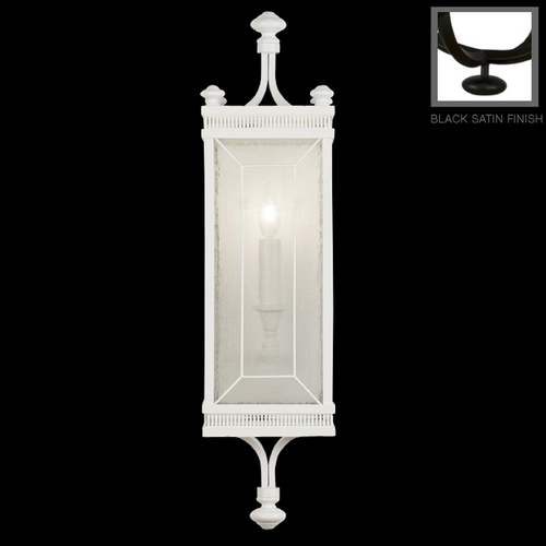 Fine Art Lamps Seeded Glass Sconce Black Fine Art Lamps 808150-6ST