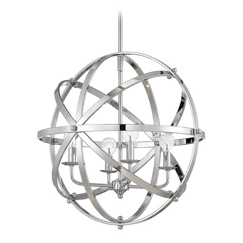 Savoy House Savoy House Chrome Pendant Light 7-4353-4-CH