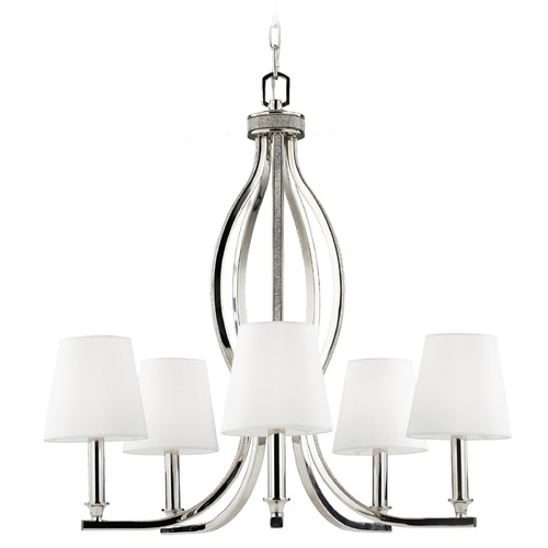 Feiss Lighting Feiss Lighting Pave Polished Nickel Chandelier F2967/5PN