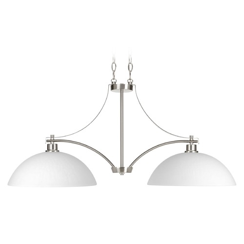 Progress Lighting Progress Lighting Legend Brushed Nickel Island Light with Bowl / Dome Shade P4254-09