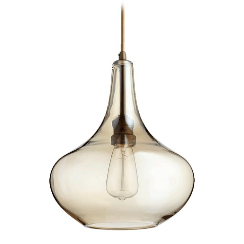 Quorum Lighting Quorum Lighting Oiled Bronze Pendant Light with Bowl / Dome Shade 8004-386