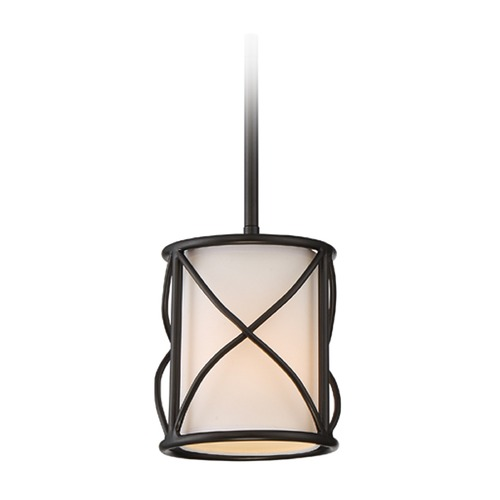 Designers Fountain Lighting Designers Fountain Avara Oil Rubbed Bronze Mini-Pendant Light with Cylindrical Shade 88630-ORB