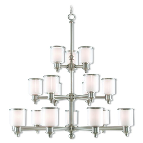 Livex Lighting Livex Lighting Middlebush Brushed Nickel Chandelier 40219-91
