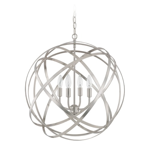 Capital Lighting Capital Lighting Axis Brushed Nickel Pendant Light 4234BN