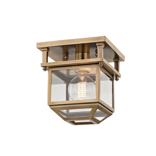 Hudson Valley Lighting Hudson Valley Lighting Rutherford Aged Brass Semi-Flushmount Light 5608-AGB