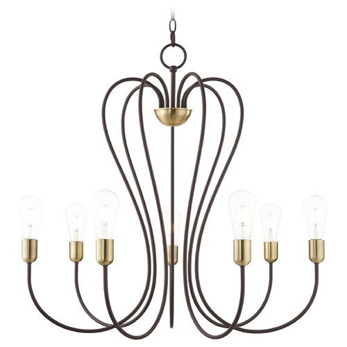 Livex Lighting Livex Lighting Lucerne Bronze with Antique Brass Accents Chandelier 41367-07