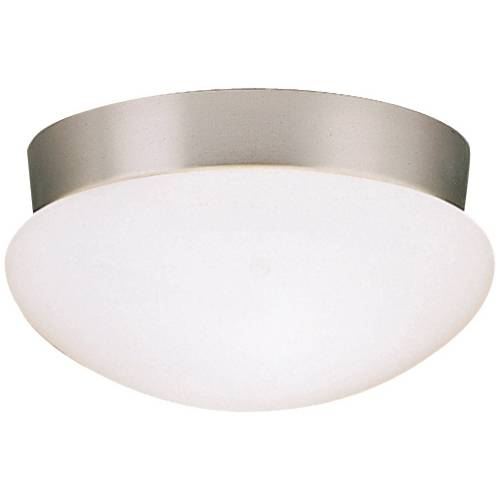 Kichler Lighting Kichler Modern Brushed Nickel Flushmount Light with White Glass 8102NIFL