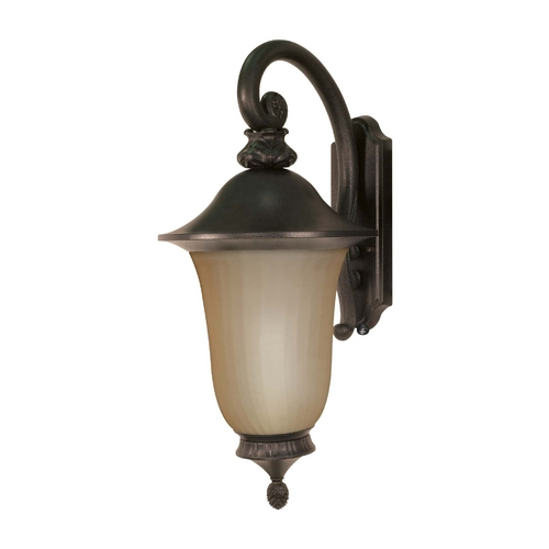 Nuvo Lighting Outdoor Wall Light with Beige / Cream Glass in Old Penny Bronze Finish 60/2508