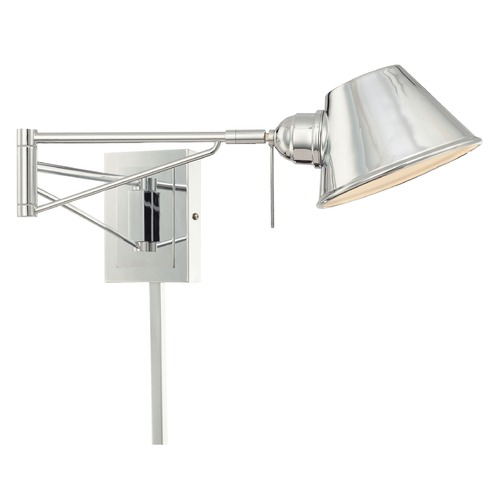 George Kovacs Lighting George Kovacs George's Reading Room Chrome Pin-Up Lamp P611-077