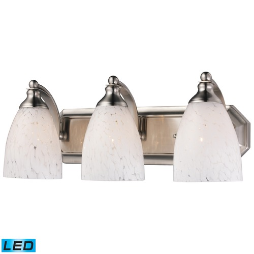 Elk Lighting Elk Lighting Bath and Spa Satin Nickel LED Bathroom Light 570-3N-SW-LED