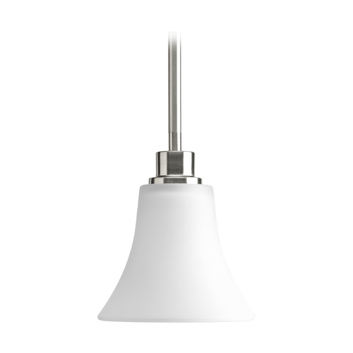 Progress Lighting Progress Mini-Pendant Light with White Glass P5270-09