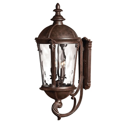 Hinkley Lighting Outdoor Wall Light with Clear Glass in River Rock Finish 1895RK