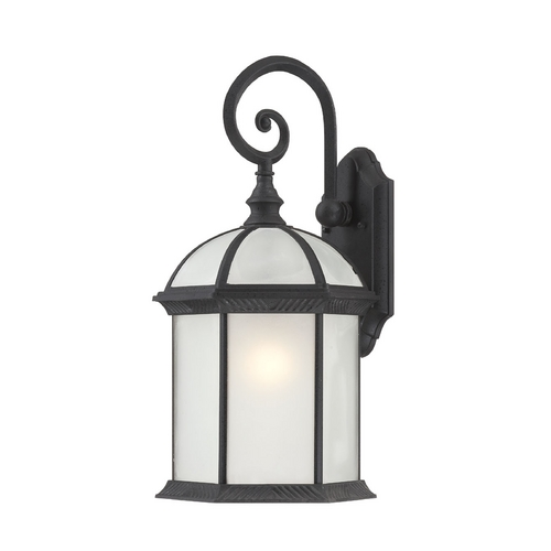 Nuvo Lighting Outdoor Wall Light with White Glass in Textured Black Finish 60/4986