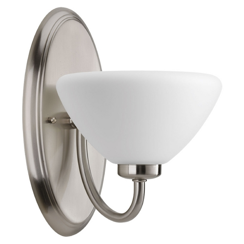 Progress Lighting Progress Lighting Rave Brushed Nickel Sconce P2070-09
