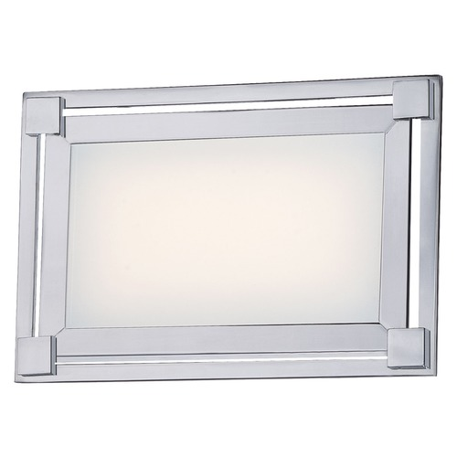 George Kovacs Lighting George Kovacs Framed Chrome LED Bathroom Light P1161-077-L
