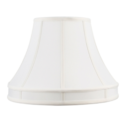 Livex Lighting White Bell Lamp Shade with Spider Assembly S535