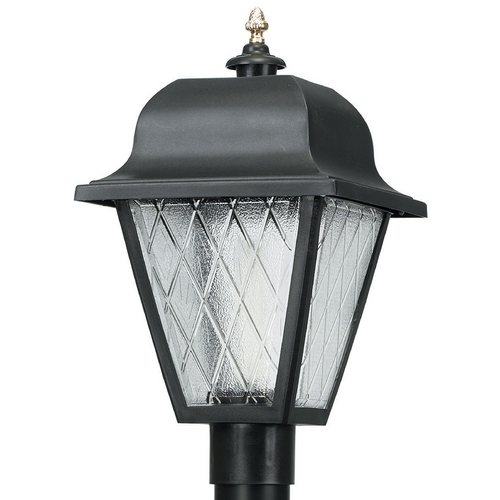 Wave Lighting Wave Lighting Marlex Saxony Black Post Light 410