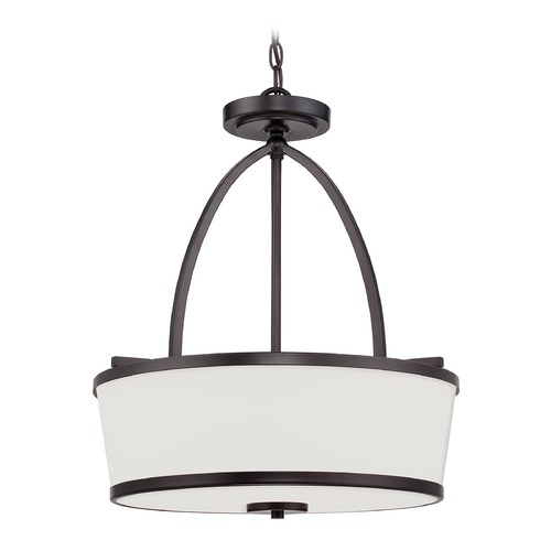 Savoy House Savoy House English Bronze Pendant Light with Drum Shade 7-4386-3-13