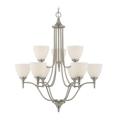 Savoy House Savoy House Lighting Herndon Satin Nickel Chandelier 1-1002-9-SN