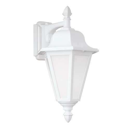 Sea Gull Lighting Sea Gull Brentwood White Outdoor Wall Light 8825BLE-15
