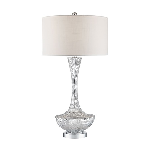 Dimond Lighting Dimond Cape Town Silver Plate Table Lamp with Drum Shade D2937