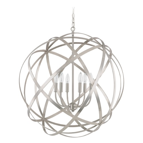 Capital Lighting Capital Lighting Axis Brushed Nickel Pendant Light 4236BN