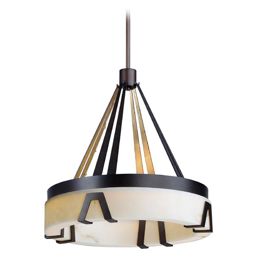 Maxim Lighting Maxim Lighting Boulder Bronze Gilt / Gold LED Pendant Light with Drum Shade 30146BZGTGLD