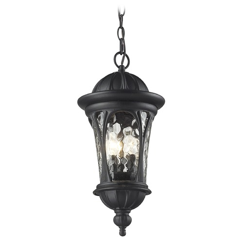Z-Lite Z-Lite Doma Black Outdoor Hanging Light 543CHM-BK