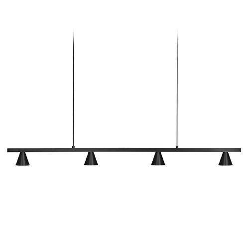 Kuzco Lighting Kuzco Lighting Dune Black Plating LED Island Light with Conical Shade LP19937-BL