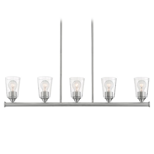 Satco Lighting Satco Lighting Bransel Brushed Nickel Island Light with Conical Shade 60/7186