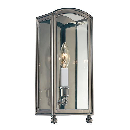 Hudson Valley Lighting Sconce Wall Light with Clear Glass in Historic Nickel Finish 8401-HN