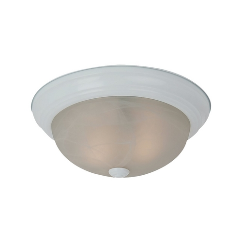 Sea Gull Lighting Flushmount Light with Alabaster Glass in White Finish 75940BLE-15