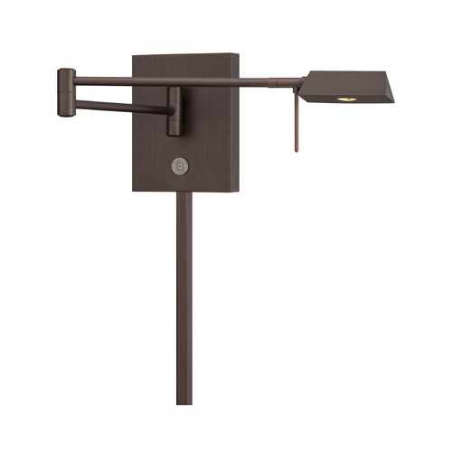 George Kovacs Lighting Modern LED Swing Arm Lamp in Copper Bronze Patina Finish P4318-647