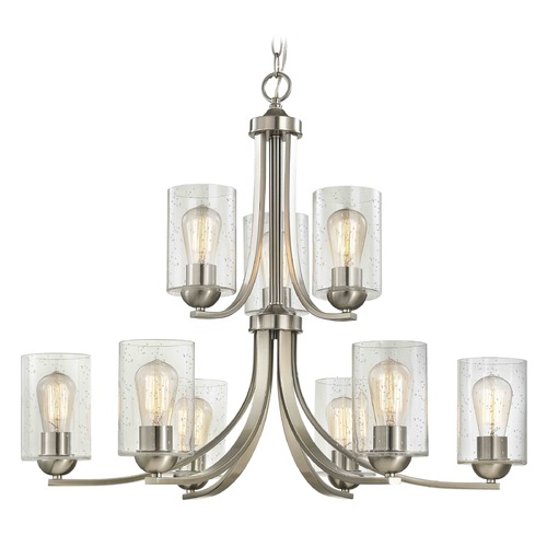 Design Classics Lighting Design Classics Dalton Fuse Satin Nickel Chandelier 586-09 GL1041C